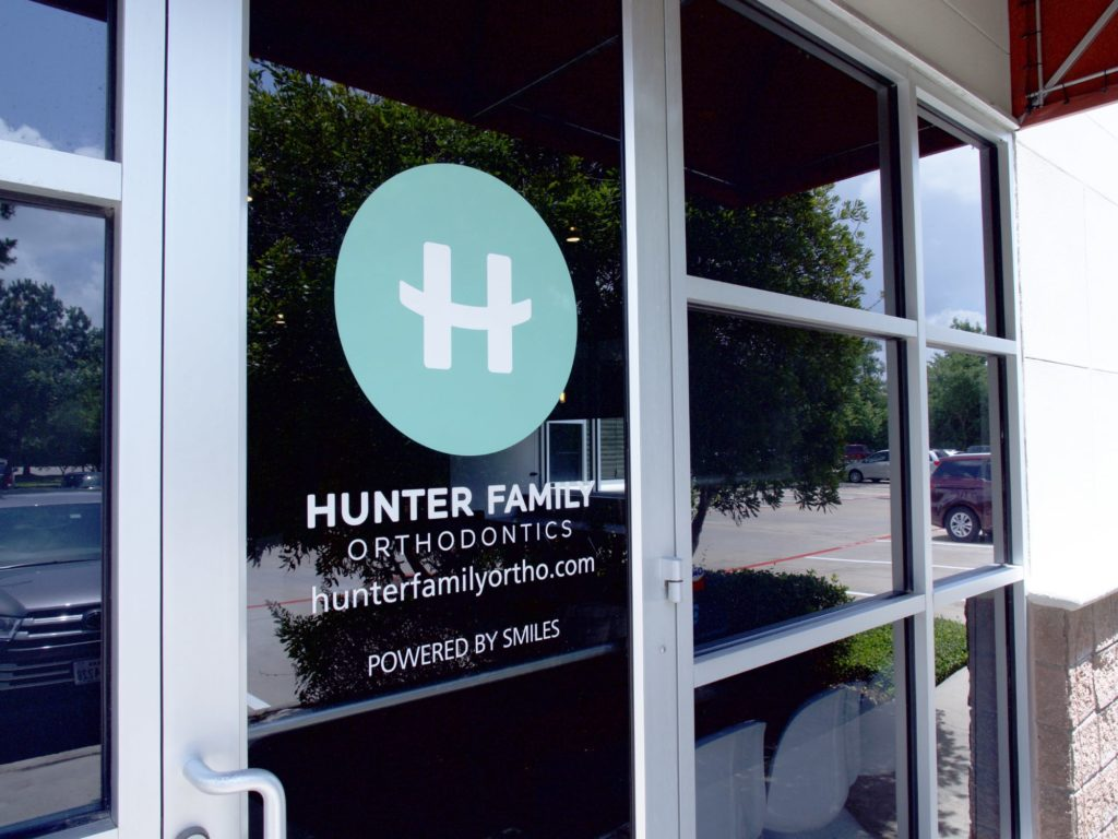 Hunter Family Orthodontics front door